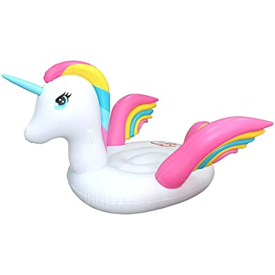 Sun Pleasure Jumbo Ride On Pool Float (Unicorn): Toys & Games