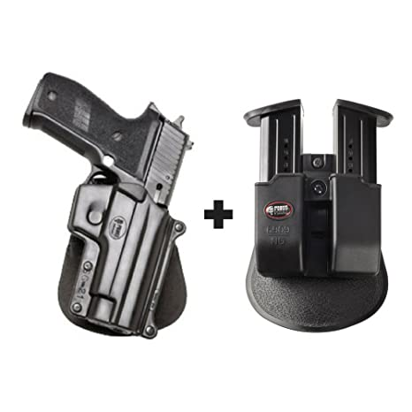 Fobus SG-21 Paddle Conceal Concealed Carry Holster Sig/Sauer P220, P226,  P227, P228, P245, P225  SAR B6 + 6909 ND Double Magazine Pouch