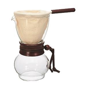 Hario Woodneck Drip Pot, 240ml, Dark Wood