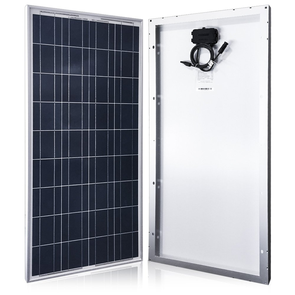 ACOPOWER 100w Solar Panel, Polycrystalline PV Solar Charger with MC4 Connectors for 12v Battery