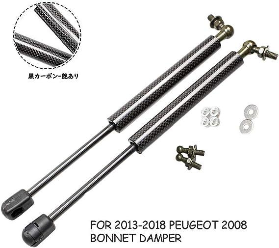 JINGLINGKJ Amortiguador de capó delantero amortiguadores de gas soporte de elevación de varillas de fibra de carbono 2 piezas
