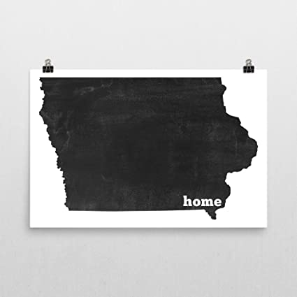 Amazon.com: Modern Map Art Iowa Home, Map of Iowa, Iowa Print, Iowa ...