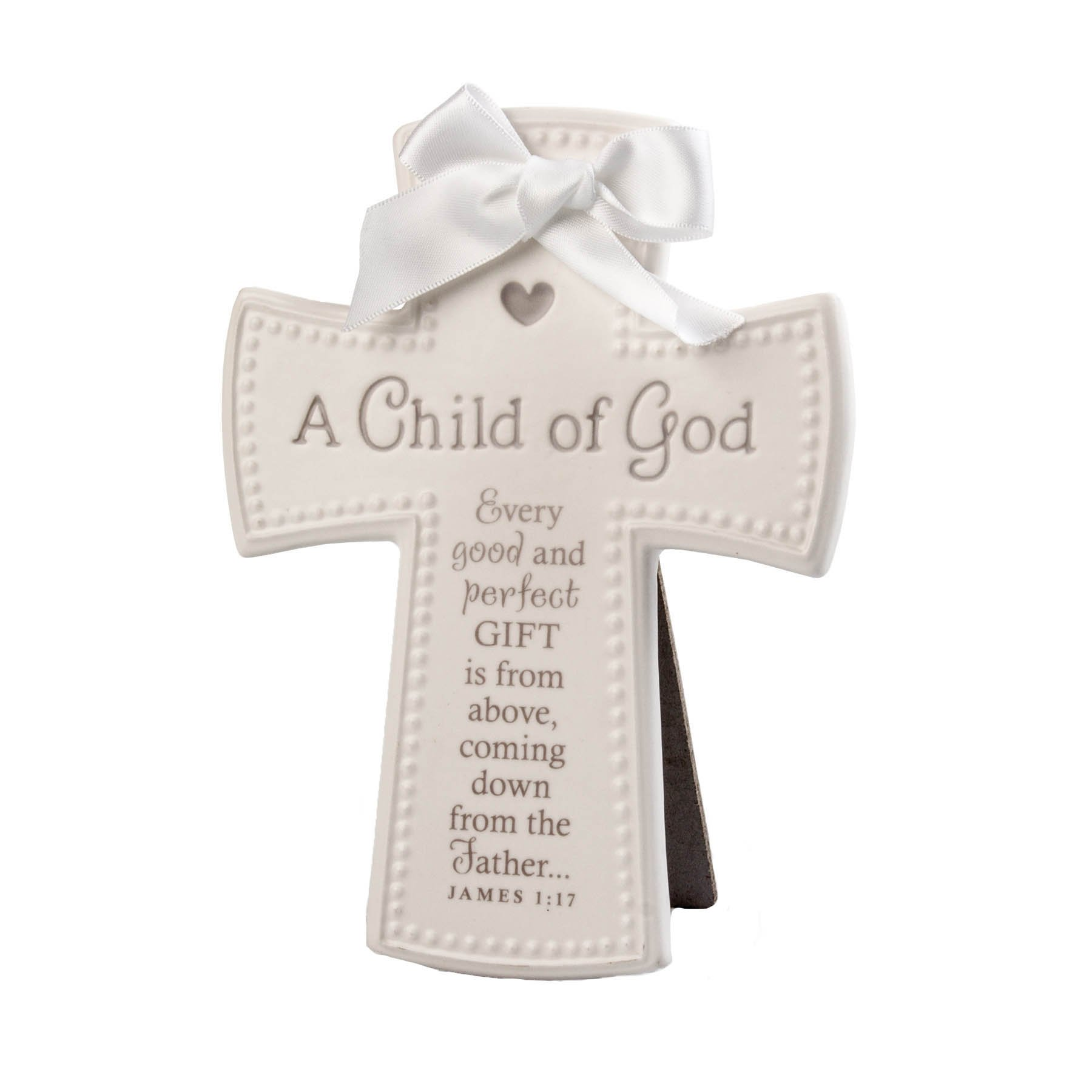 Lighthouse Christian Products White & Gray a Child of God Wall/Desktop Cross, 5 x 6 1/2''
