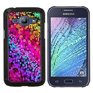 EJOOY---Cubierta de la caja de protección para la piel dura ** Samsung Galaxy J1 J100 ** --Color Splash neón Acuarelas