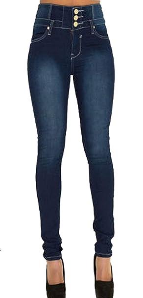 Pantalones Vaqueros De Moda Pantalones De Tobillo Cintura ...