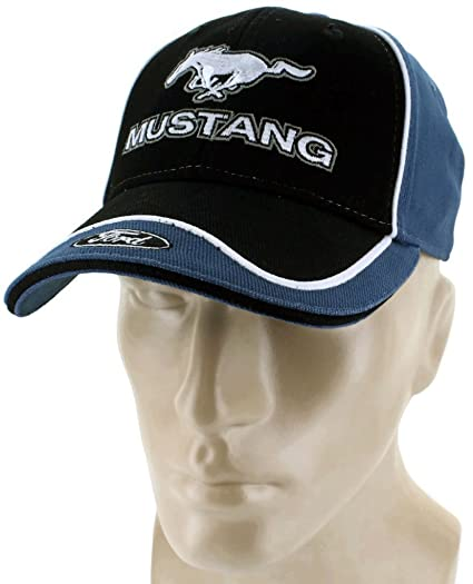 Amazon.com  Ford Mustang Blue Baseball Cap Trucker Hat Snapback 5.0 Liter  GT Cobra  Automotive 6f2b53c55523