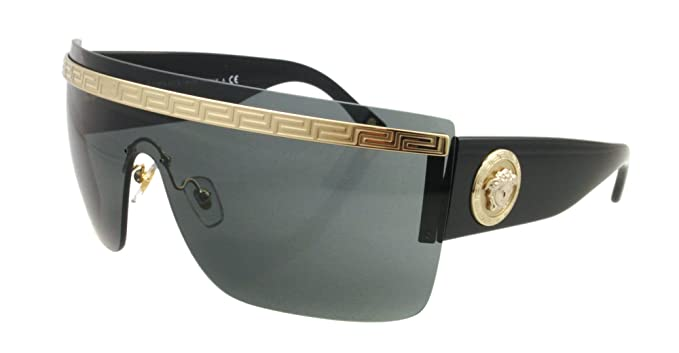 939c99872d5c Image Unavailable. Image not available for. Colour  Versace 2130 125287  Black 2130 Visor Sunglasses