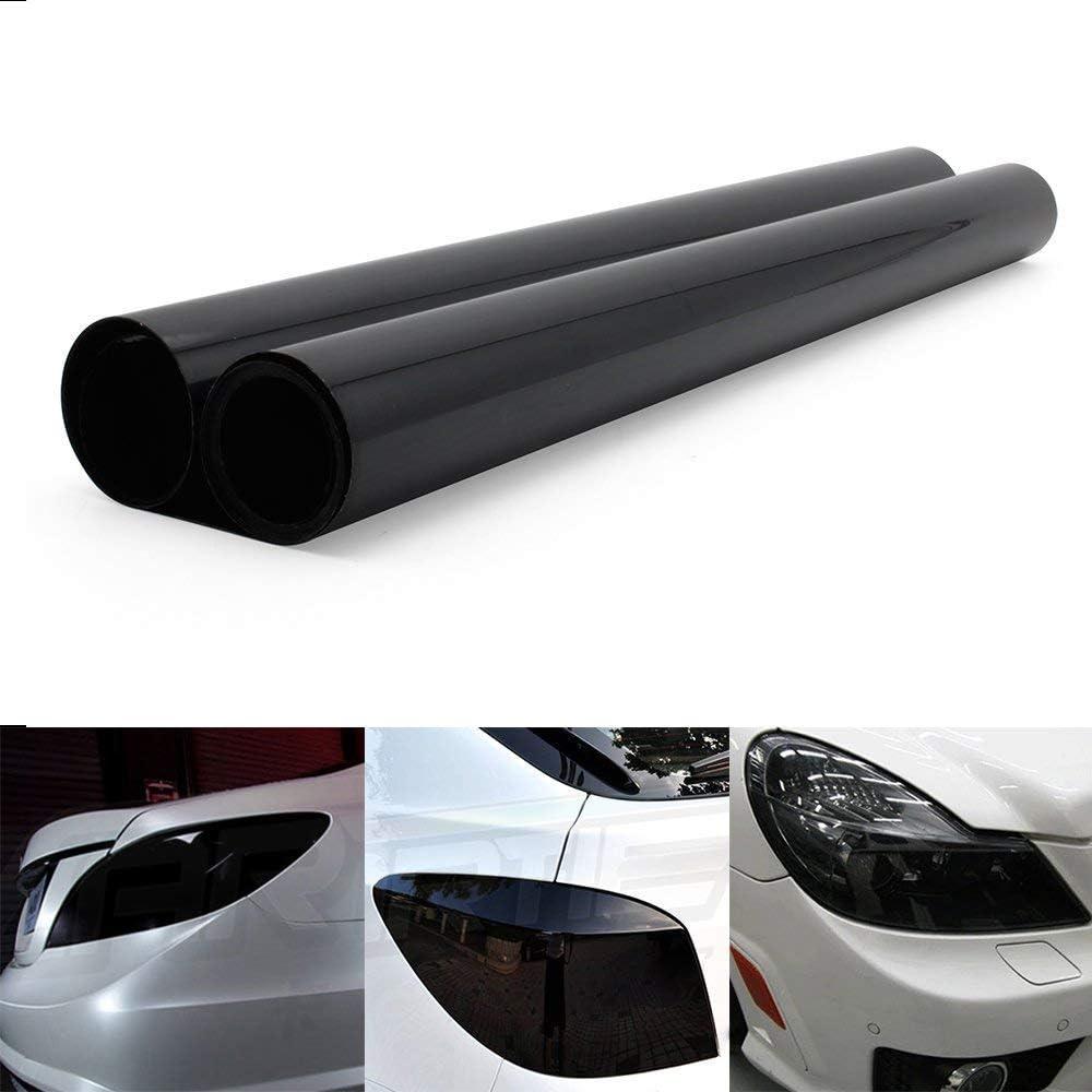 Yaobluesea Scheinwerfer Tönungsfolie Auto Folie Rückleuchten Nebelscheinwerfer Aufkleber Schwarz 200 X 40cm Auto