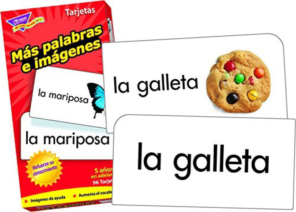 Skill Drill Flash Cards Picture Words /& More Picture Words // Palabras e im/ágenes /& M/ás palabras e im/ágenes Bundle of 2 Items by Trend Enterprises Spanish Flash Cards from Trend Enterprises