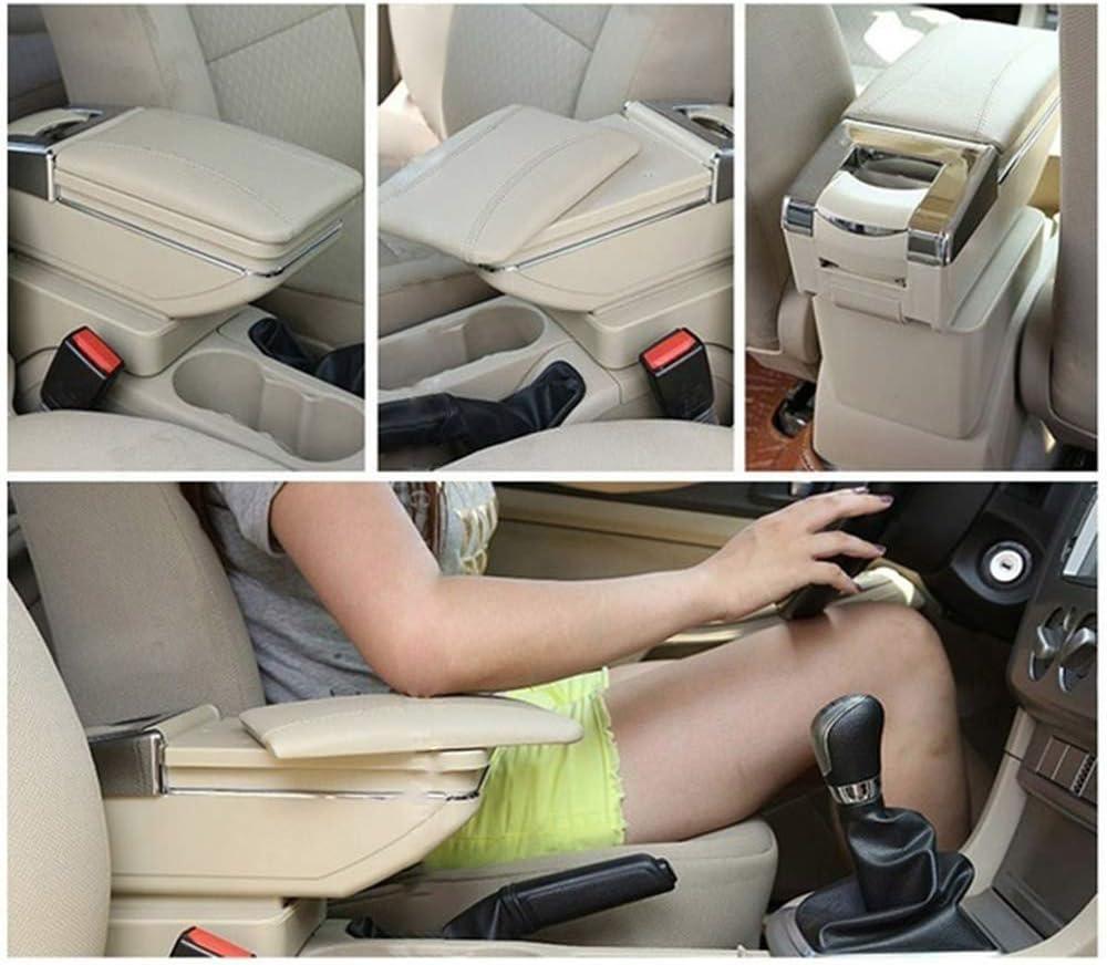 Pywee Dual Layer Auto Armlehne Fit F/ür Mazda CX-3 2015-2018 F/ür Toyota Yaris iA Limousine 2017-2018 Armlehne Aufbewahrungsbox Schwarz Leder