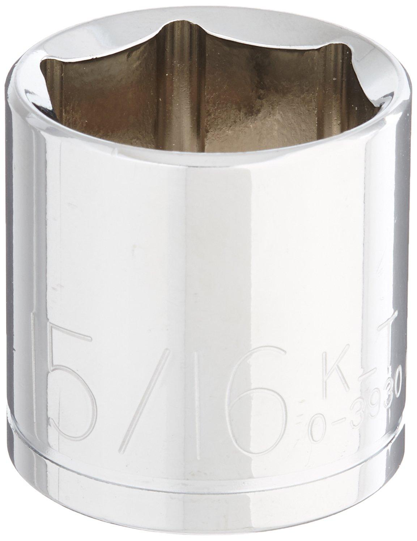 K-T Industries 0-3930 Drive 6-Point Regular Socket 15//16