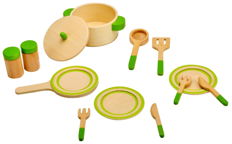 Kochgeschirr Kinderküche Holz - Idena Kleiner Küchenmeister Küchengeschirr
