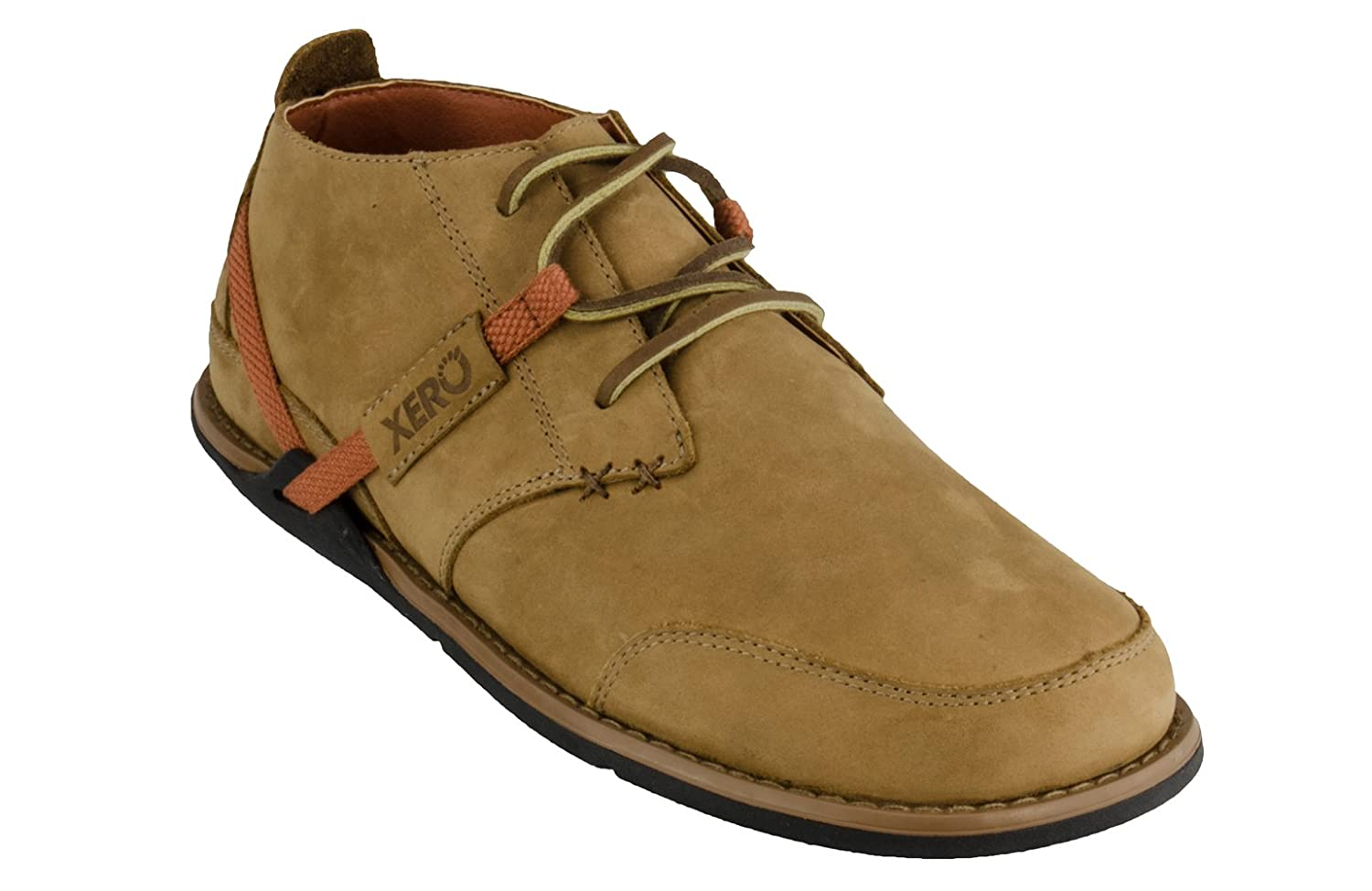 Xero Shoes Coalton - Chukka Style, Minimalist, Zero-Drop Low Leather Boot - Men CCM-BKBK-PP