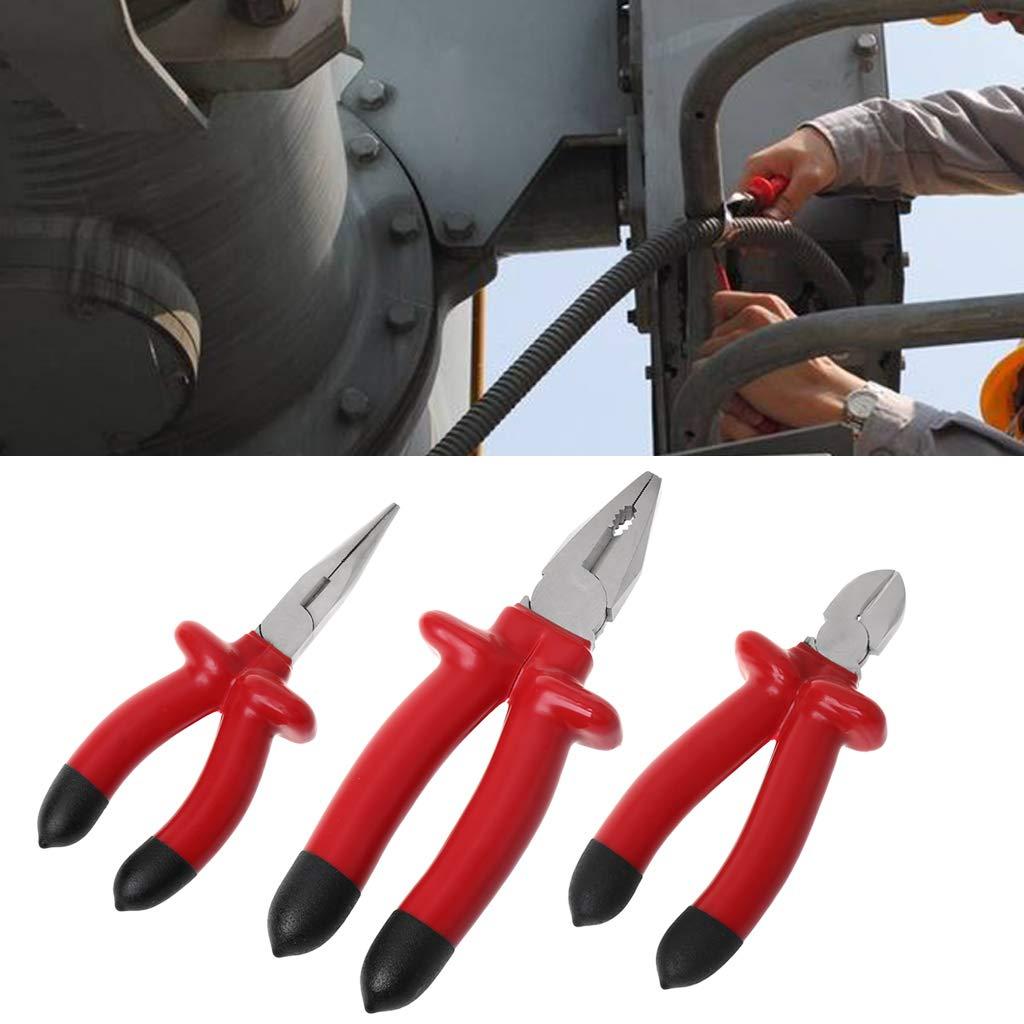 CADANIA Alicate de Corte Aislado Resistente 1000 V para electricistas Que cortan Herramientas multifuncionales de Mano 3#
