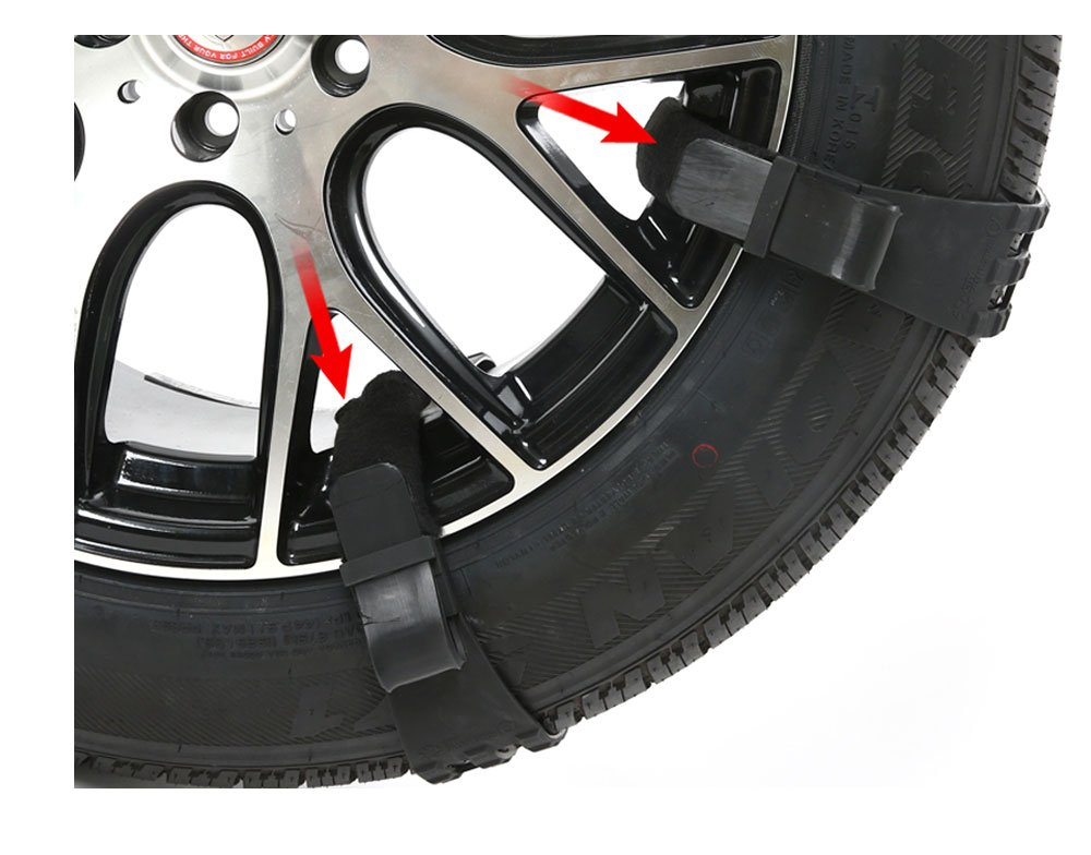 Ultra Silent Spike Snow Tire Chains (L)
