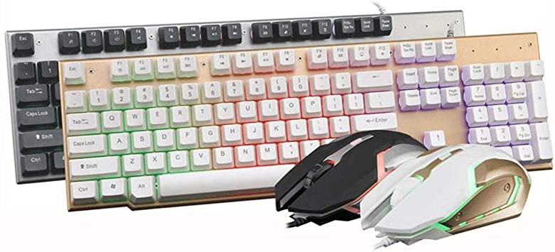 KINGXX-01 Pack de Teclado y ratón inalámbricos Juego de ...