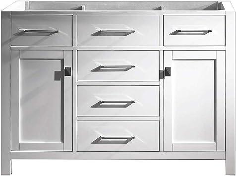 Virtu Usa Caroline 48 Inch Single Sink Bathroom Vanity Cabinet In White Cabinet Only Ms 2048 Cab Wh Amazon Com