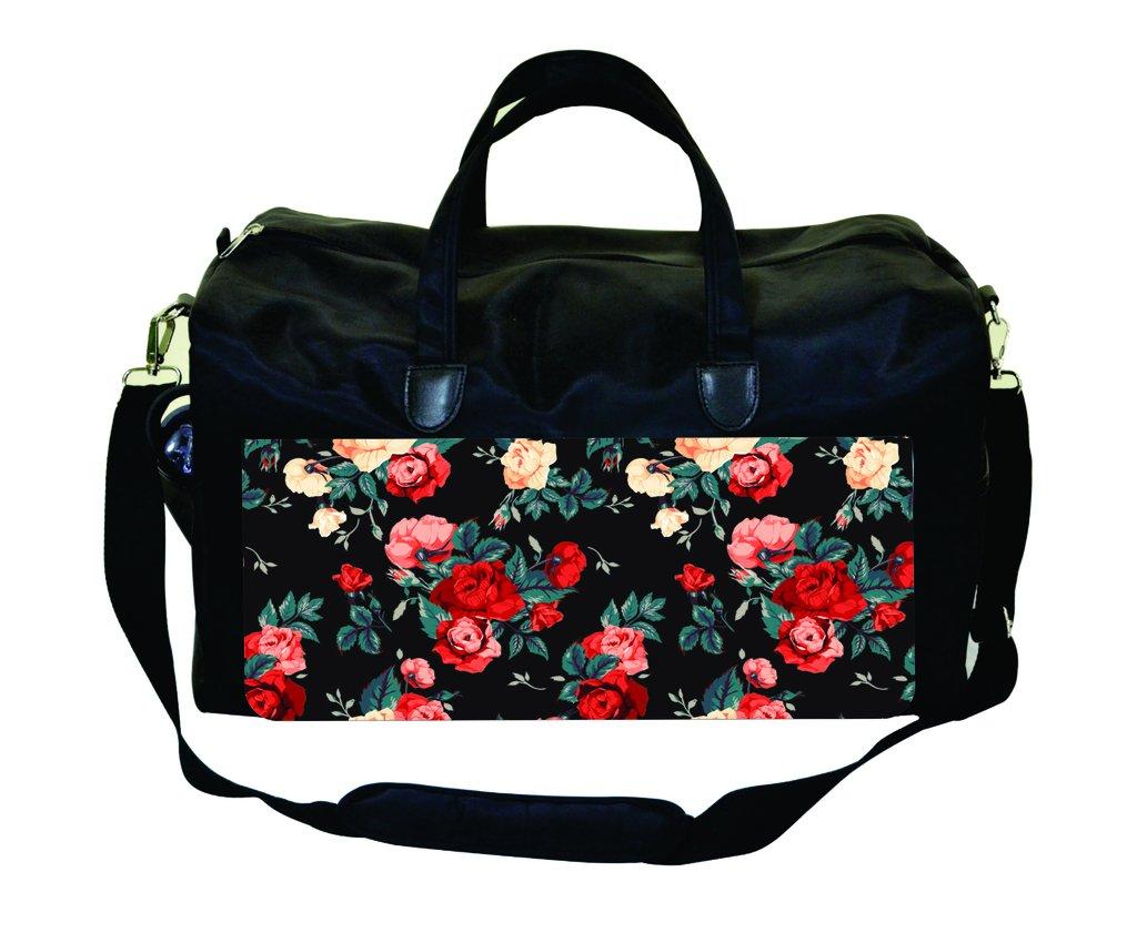 Watercolor Blossoms Print Design Gym Bag