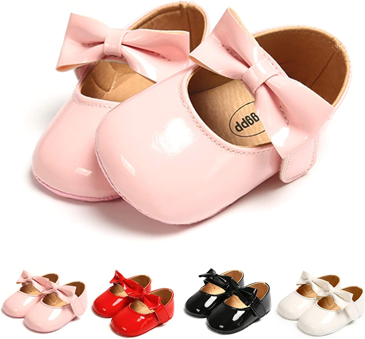 Babies and Toddlers Tuoting Infant Baby Girl Shoes,Baby Mary Jane Flats Princess Dress Shoes,Crib Shoe for Newborns Infants