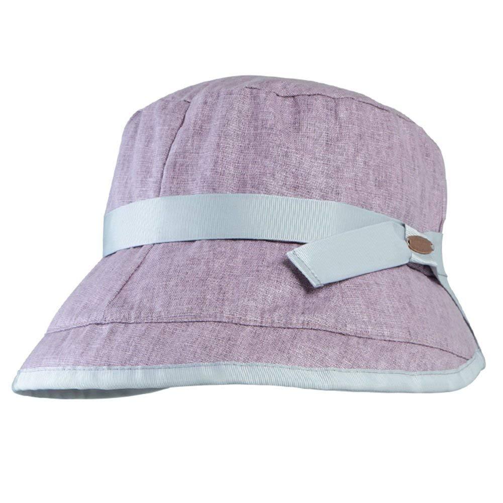 violet  WYJW Casquette Sun Cap été Bucket Hat Femme Chapeau de Soleil extérieur portatif (Couleur  Rose)