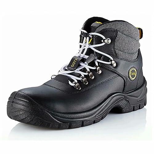 DDTX Botas De Seguridad Hombre Trabajo Zapatos de Seguridad Laboral Puntera De Acero Y Entresuela De
