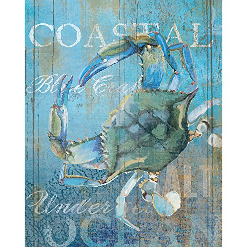 Portfolio Canvas Decor Portfolio Décor Canvas Print Wall Art-Crab and Sea Crop by Ali Zoe Stretched and Wrapped, Ready to Hang-16x20, 16x20 (Zoe Crop)