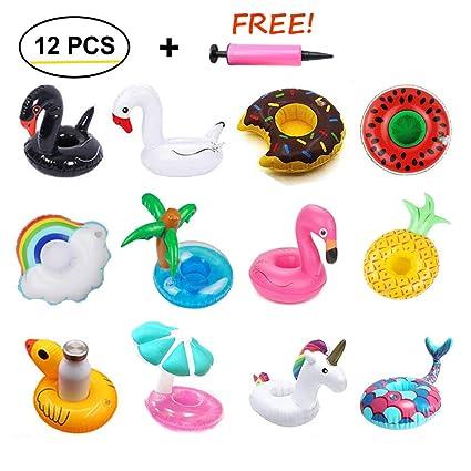 Amazon.com: NetEra - Portavasos inflable para piscina, 12 ...