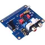 Kuman Raspberry piに適用 サウンドカード モジュール i2sインターフェース 専用PiFi Digi/ DAC+ / HIFI デジタルオーディオカードピンボード Raspberry pi 3 2 Model B B +対応 V2.0ボード ラズベリーパイdac SC08