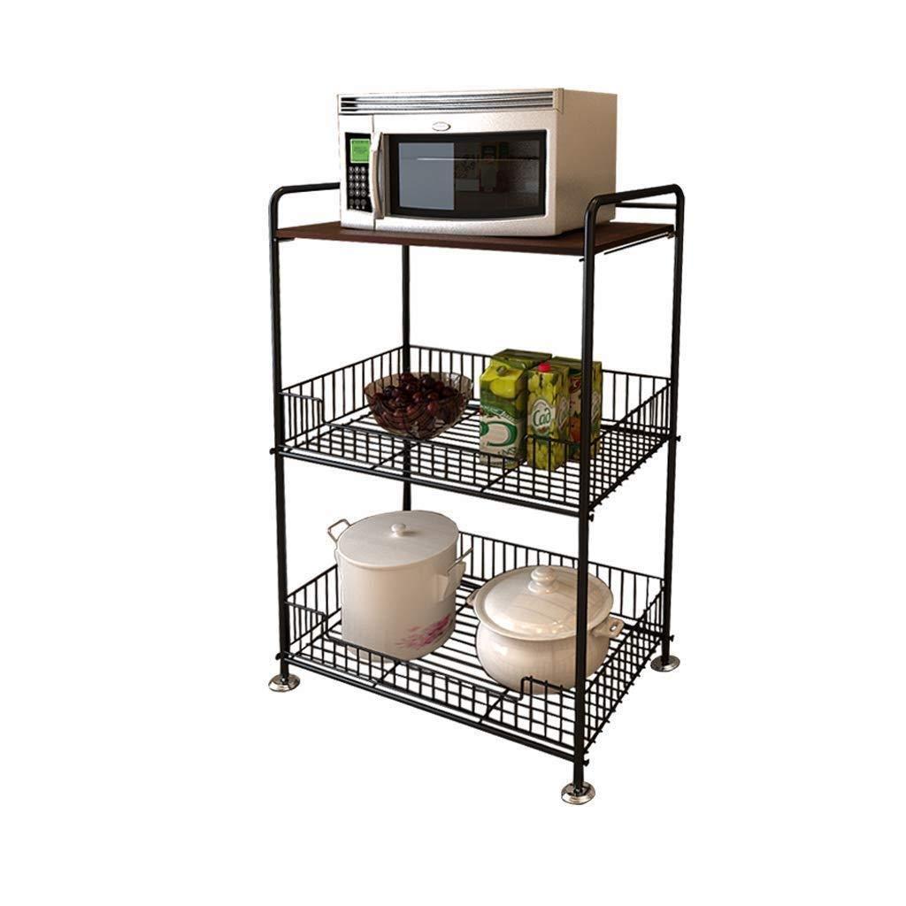 メタルキッチンラック野菜ラックフルーツモバイル収納棚多層フロアシェルフ WJuian B07RRKG397
