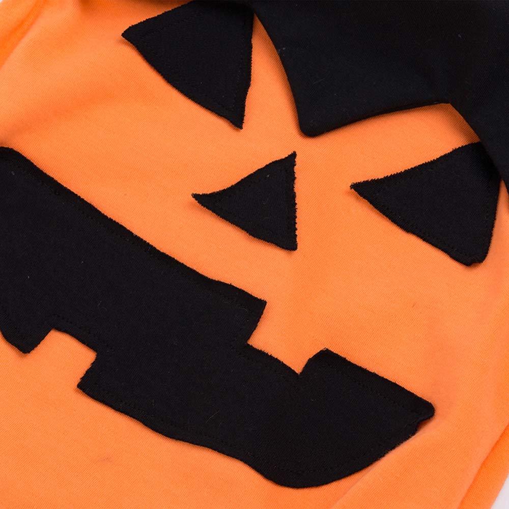 S-XL Hoter Halloween Pumpkin Romper Bodysuit for Baby Boys and Girls