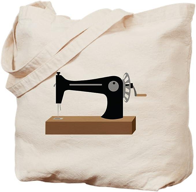 IrmaPetty - Bolsa de lona natural para máquina de coser antigua ...