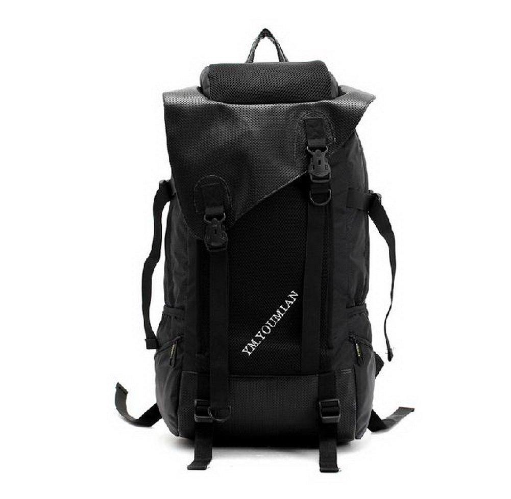 Laptopバックパックブラック大容量旅行バックパックナイロンバックパック防水 B00HSXQ6YG