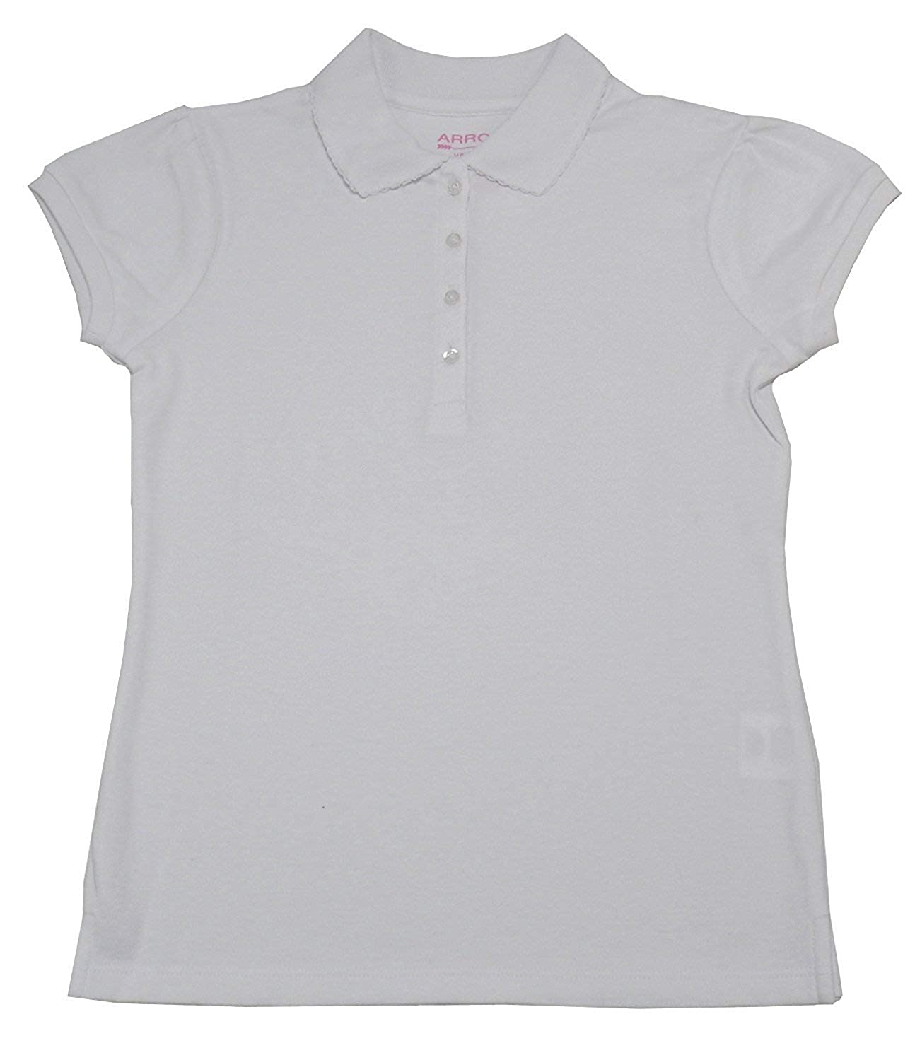 Arrow Girls Approved Schoolwear Large White Short Sleeve Polo Shirt 12//14