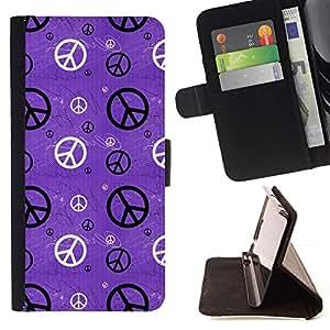 Momo Phone Case / Flip Funda de Cuero Case Cover - Hippie símbolo de la Paz Wallpaper Arte - Sony Xperia Style T3
