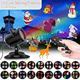 Holiday Light Projector Set [18 Rotating Gobos], Wireless Christmas Projector Light Garden Lamp LED Landscape Motion Outdoor Decorations Lighting Show for kids, Family, Party, Birthday - Sankit Gift