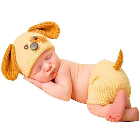 BBsmile Sombrero de Punto bebé Otoño e Invierno Bebé recién Nacido Ganchillo de Punto Traje de Ropa Fotografía fotográfica Equipo de atuendos