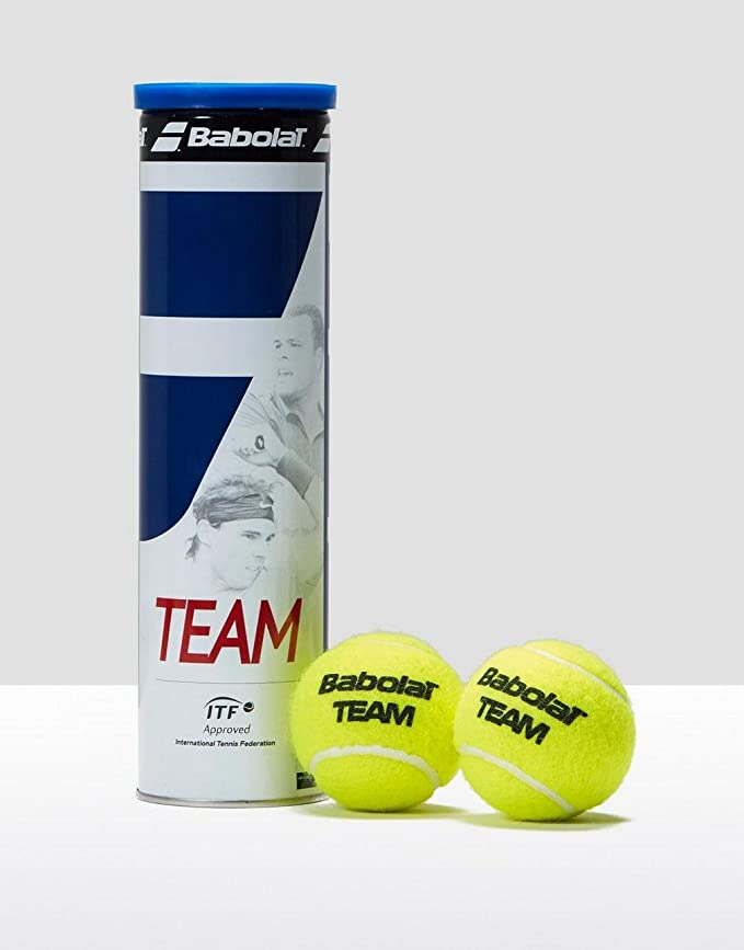 Amazon.com : Babolat Team Tennis Balls, Yellow, One Size ...
