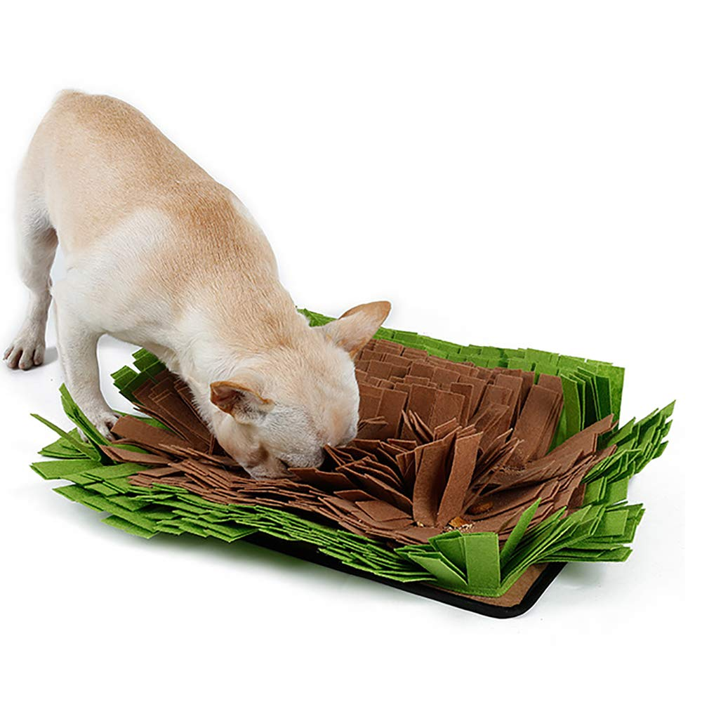 FXQIN Pet Snuffle Mat Dog Yummy Mat Training Feeding Stress Release Pad Foraging Skill Blanket for Indoor/Outdoor Activity (44 32 cm)