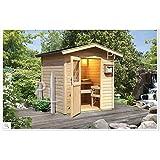 Sauna finlandese classica da esterni e giardino NICLA