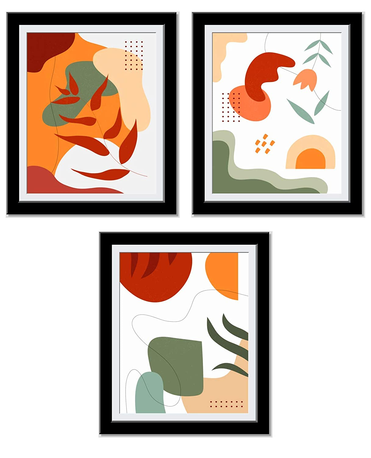 Bedroom Decor - Vibrant Orange Posters For Room Aesthetic - Abstract Art - Chic Minimalist Decor - Cute, Trendy Art Prints - House warming, Anniversary Gifts For Her - 8X10 Unframed…