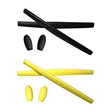 HKUCO Red/Black/Yellow/White Replacement Silicone Leg Set For Oakley Juliet Sunglasses Earsocks Rubber Kit Sud7S