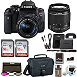: Canon EOS Rebel T6i Digital Camera: 24 Megapixel 1080p HD Video Wifi Enabled DSLR Bundle With Wide Angle 18-55mm Lens 2x 16GB SD Card Filters Bag & More - Professional Vlogging Sports &Action