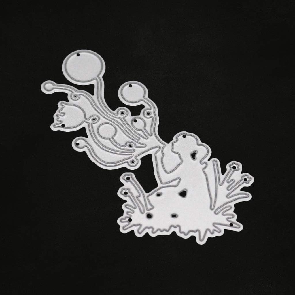 Nankod Blow Ballon en m/étal de coupe Dies Pochoirs pour le bricolage Scrapbooking papier carte gaufrage Craft Decor