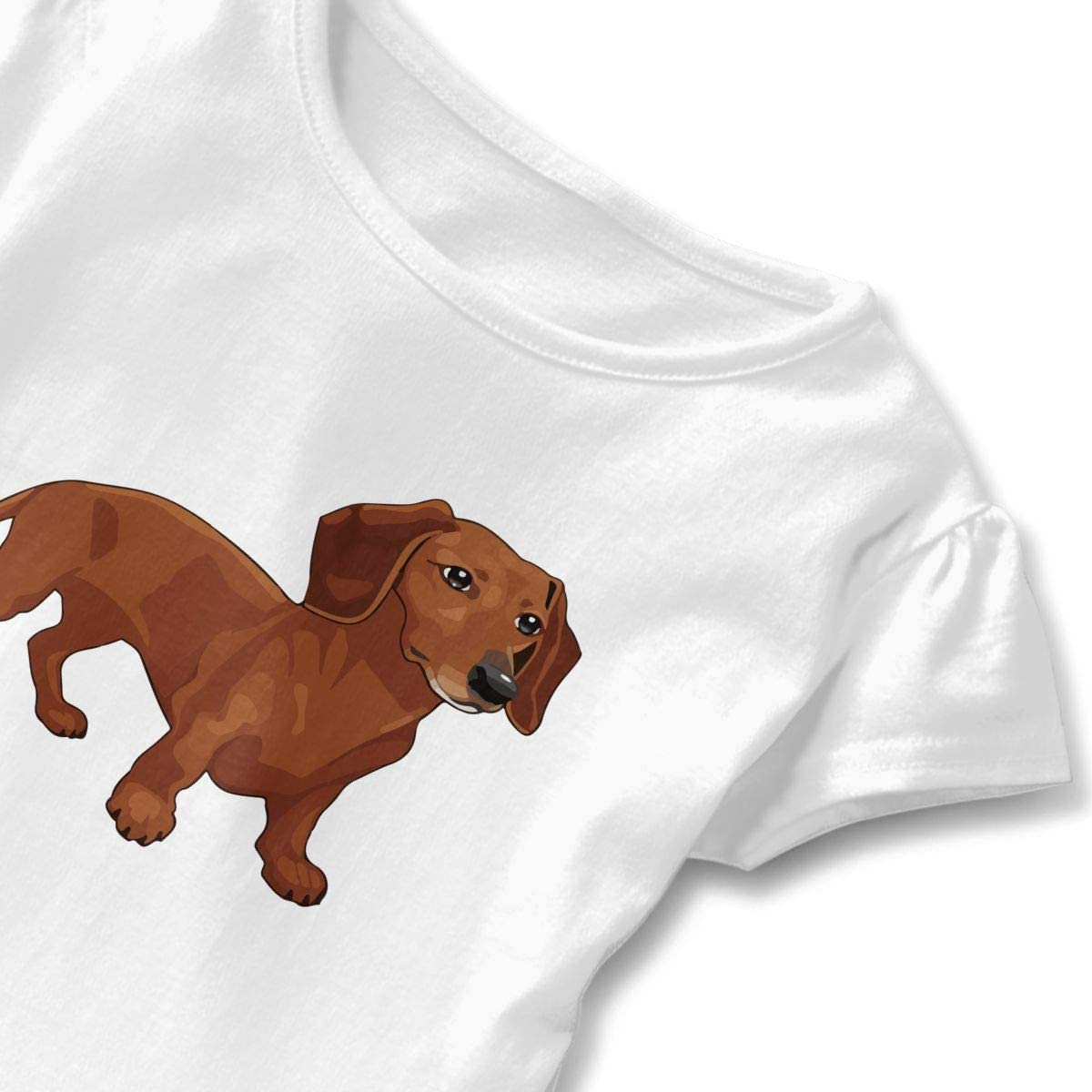 Dachshund Funny Baby Boys Girls Short Sleeve Crew Neck T-Shirt 6-18 Month Tops