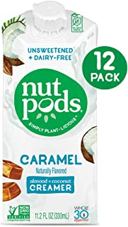 product image for nutpods Caramel, Unsweetened Dairy-Free Liquid Coffee Creamer Made From Almonds and Coconuts (12-pack)