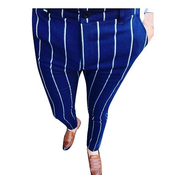 Pantalones para Hombre, Negocios Pantalones Moda Pop Casuales ...