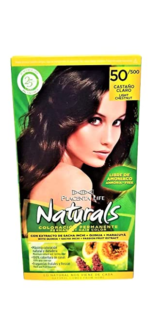 Placenta Life Naturals Permanent Hair Color with Quinoa + Sacha Inchi + Passion Fruit Extract -