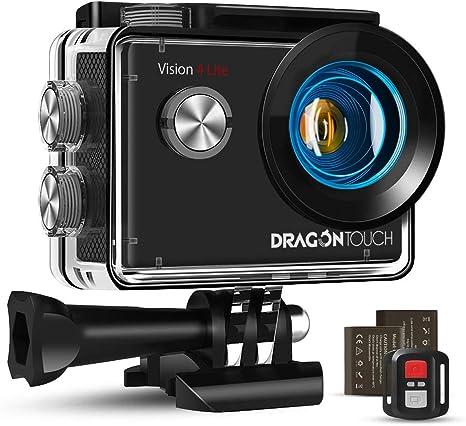 Dragon Touch Cámara Deportiva WiFi 4K 20MP Cámara de Acción con ...