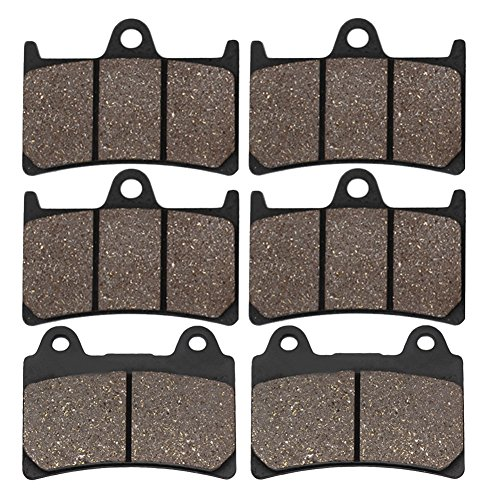 Cyleto Front and Rear Brake Pads for YAMAHA XV1700 Roadstar 1700 2004-2009 XV 1700 Road Star Midnight Silverado 2004 2005 2006 2007 ()