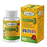 Purest Omega 3 Fish Oil 1500mg with Lemon. EPA 800mg + DHA 600mg Fatty Acids. 100% Derived from Cold Water Anchovies.GMO & Allergen Free Softgels. Joint Support, Heart Health, Brain